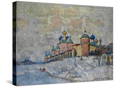 View of a Monastery, 1933-Konstantin Ivanovich Gorbatov-Stretched Canvas Print