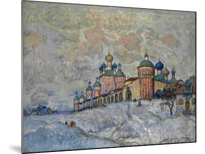 View of a Monastery, 1933-Konstantin Ivanovich Gorbatov-Mounted Giclee Print