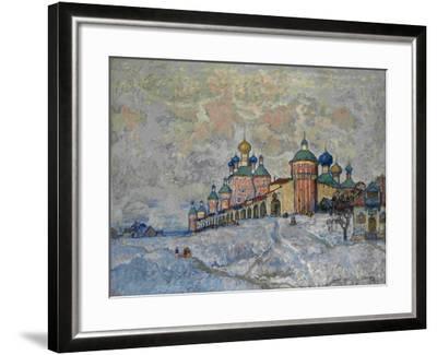 View of a Monastery, 1933-Konstantin Ivanovich Gorbatov-Framed Giclee Print