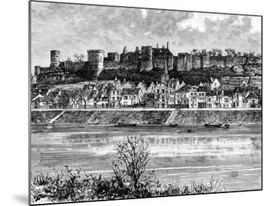 Chinon and the Vienne River, France, 19th Century-Taylor-Mounted Giclee Print