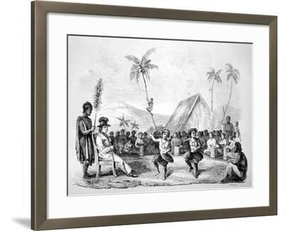 Dance of the Two Children, Hawaii, 19th Century-Ellis -Framed Giclee Print
