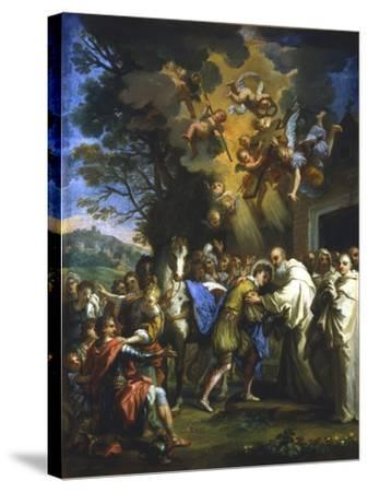 Entry of St Bernard into the City, C1630-1679--Stretched Canvas Print