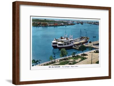Saigon Harbour, French Indochina (Vietna), 20th Century--Framed Giclee Print