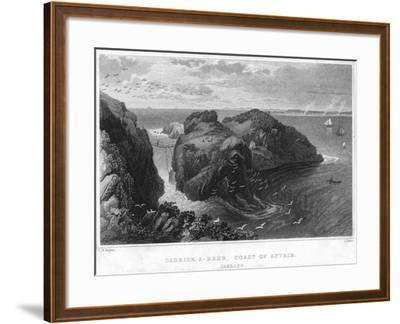 Carrick-A-Rede, Coast of Antrim, Ireland, 19th Century--Framed Giclee Print
