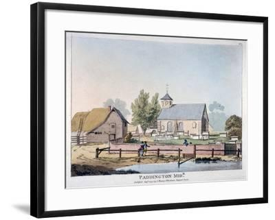 View of St Mary's Church, Paddington, London, 1791--Framed Giclee Print