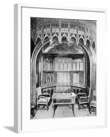 Queen Victoria's Pew in St George's Chapel, Windsor, 1901-Eyre & Spottiswoode-Framed Giclee Print