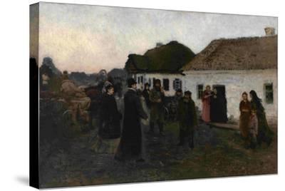 Returning Home, 1876-1877-Ilya Yefimovich Repin-Stretched Canvas Print