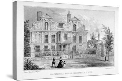 View of Shacklewell Manor House, Hackney, London, C1830-Dean and Munday-Stretched Canvas Print