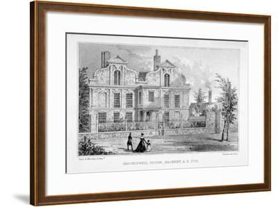 View of Shacklewell Manor House, Hackney, London, C1830-Dean and Munday-Framed Giclee Print