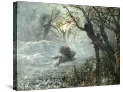 The King of the Woods, Ca 1887-Juli Julievich Klever-Stretched Canvas Print