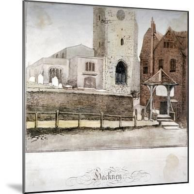 View of the Church of St John at Hackney, London, C1795--Mounted Giclee Print