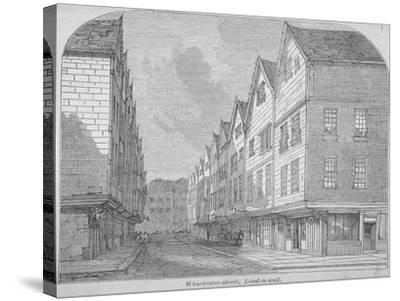View of Great Winchester Street, City of London, 1850--Stretched Canvas Print