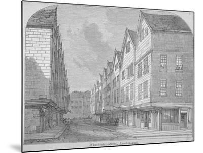 View of Great Winchester Street, City of London, 1850--Mounted Giclee Print