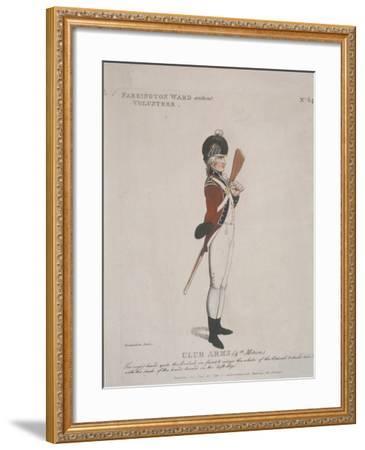 Farrington Ward Without Volunteer Holding a Rifle, 1798-Thomas Rowlandson-Framed Giclee Print