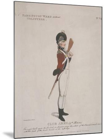 Farrington Ward Without Volunteer Holding a Rifle, 1798-Thomas Rowlandson-Mounted Giclee Print