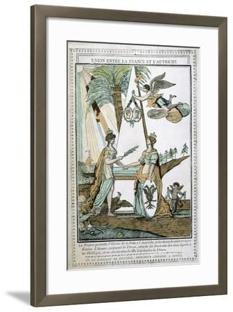 The Union Between France and Austria, 19th Century--Framed Giclee Print