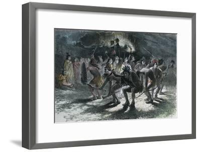 Native American Scalp Dance, C1875--Framed Giclee Print