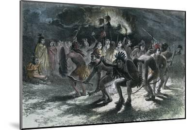 Native American Scalp Dance, C1875--Mounted Giclee Print
