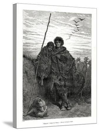 Shepherd of Alava, Spain, 1886-Gustave Dor?-Stretched Canvas Print