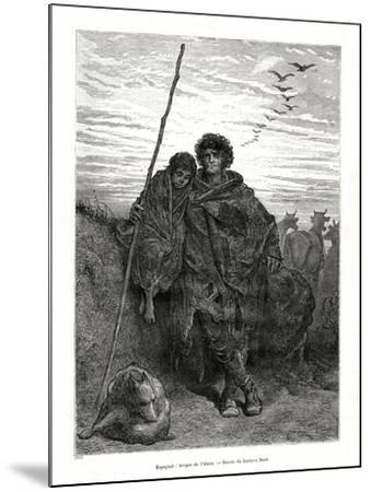 Shepherd of Alava, Spain, 1886-Gustave Dor?-Mounted Giclee Print