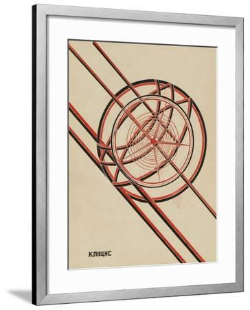 World October-Gustav Klutsis-Framed Giclee Print
