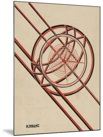 World October-Gustav Klutsis-Mounted Giclee Print