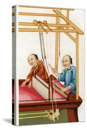 Chinese Silk Weaving, 20th Century--Stretched Canvas Print