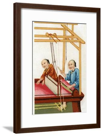 Chinese Silk Weaving, 20th Century--Framed Giclee Print