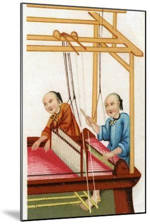 Chinese Silk Weaving, 20th Century--Mounted Giclee Print
