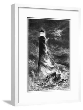 Eddystone Lighthouse, 19th Century--Framed Giclee Print