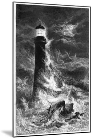 Eddystone Lighthouse, 19th Century--Mounted Giclee Print