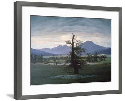 The Solitary Tree, 1823-Caspar David Friedrich-Framed Giclee Print