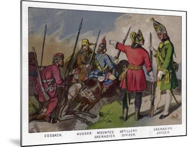 Russian Soldiers of 1760 (19th Centru)--Mounted Giclee Print