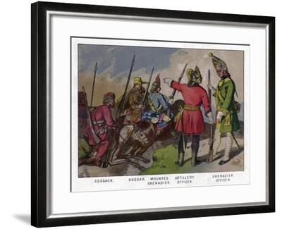 Russian Soldiers of 1760 (19th Centru)--Framed Giclee Print