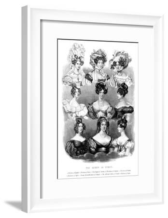 The Queens of Europe, 19th Century--Framed Giclee Print