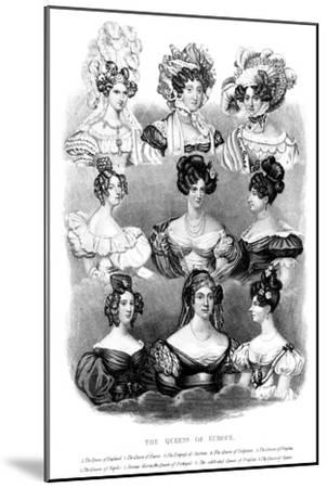 The Queens of Europe, 19th Century--Mounted Giclee Print