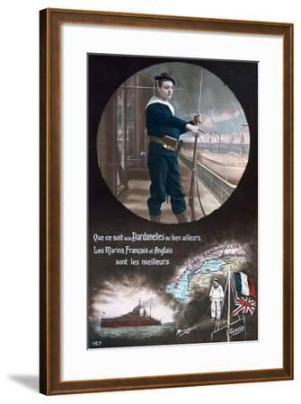 French WWI Postcard, 1914-1918--Framed Giclee Print