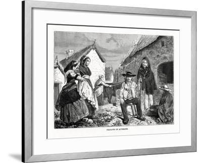 Peasants of Auvergne, France, 19th Century--Framed Giclee Print
