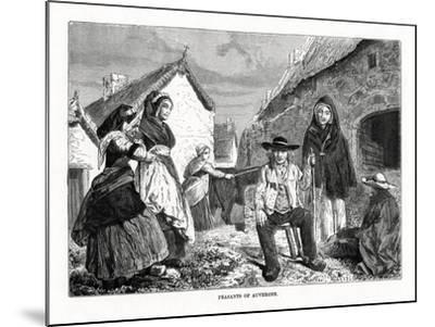 Peasants of Auvergne, France, 19th Century--Mounted Giclee Print