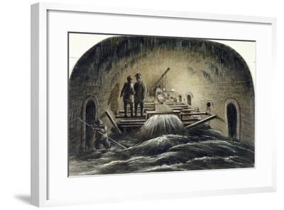 Fleet River, London, 1854--Framed Giclee Print