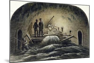 Fleet River, London, 1854--Mounted Giclee Print