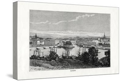 The Harbour at Bayonne, France, 1879--Stretched Canvas Print