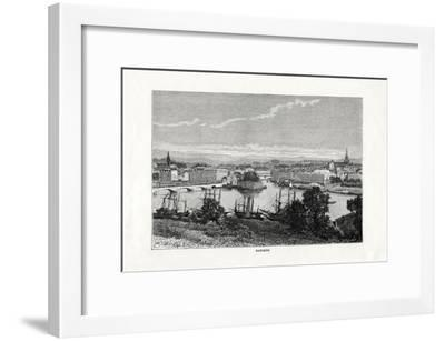 The Harbour at Bayonne, France, 1879--Framed Giclee Print