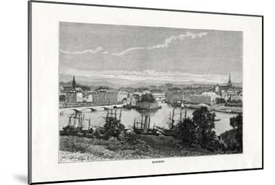 The Harbour at Bayonne, France, 1879--Mounted Giclee Print