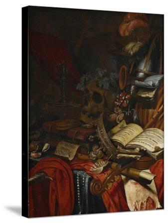 Memento Mori-Vincent Laurensz van der Vinne-Stretched Canvas Print