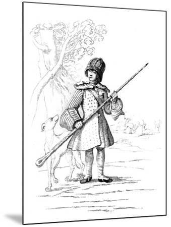A Deer Hunter--Mounted Giclee Print
