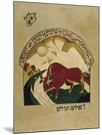 Taurus-El Lissitzky-Mounted Giclee Print