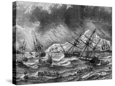 Cod Fishing, Canada, 19th Century- Le Breton-Stretched Canvas Print