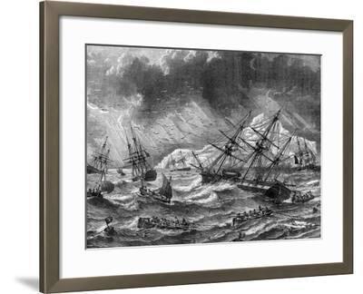 Cod Fishing, Canada, 19th Century- Le Breton-Framed Giclee Print