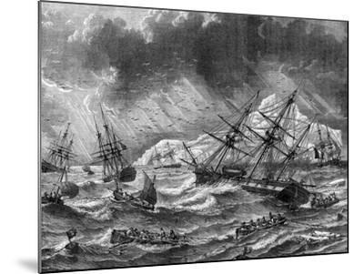 Cod Fishing, Canada, 19th Century- Le Breton-Mounted Giclee Print